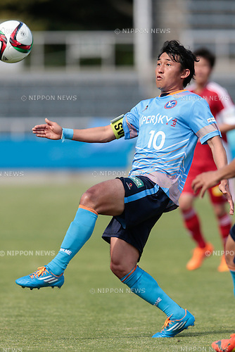 Akio Yoshida (Y.S.C.C.Yokohama), <br /> APRIL 29, 2015 - Football /Soccer : <br /> 2015 J3 League match <br /> between Y.S.C.C.Yokohama 0-0 U-22 J.League selection <br /> at NHK Spring Mitsuzawa Football Stadium, Kanagawa, Japan. <br /> (Photo by AFLO SPORT)