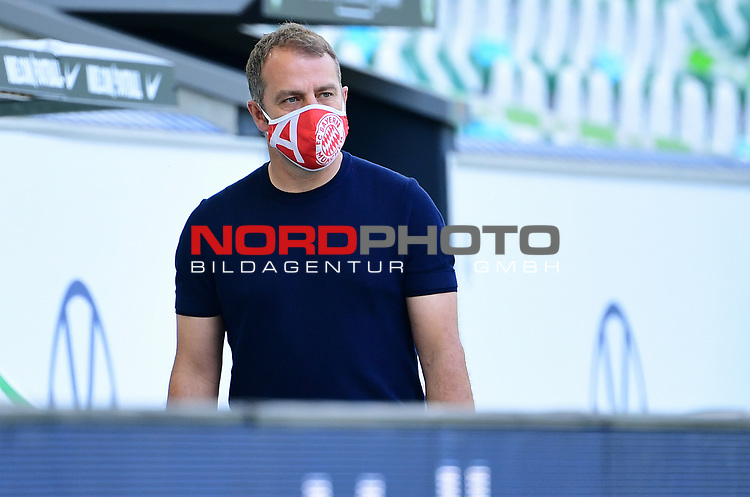 "Trainer Hans-Dieter ""Hansi"" Flick (Bayern)<br /> Wolfsburg, 27.06.2020: nph00001: , Fussball Bundesliga, VfL Wolfsburg - FC Bayern Muenchen<br /> Foto: Tim Groothuis/Witters/Pool//via nordphoto<br />  DFL REGULATIONS PROHIBIT ANY USE OF PHOTOGRAPHS AS IMAGE SEQUENCES AND OR QUASI VIDEO<br /> EDITORIAL USE ONLY<br /> NATIONAL AND INTERNATIONAL NEWS AGENCIES OUT"