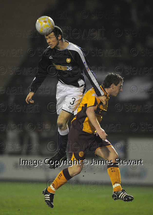 11/02/2008    Copyright Pic: James Stewart.File Name : sct_jspa02_motherwell_v_dundee.DUNDEE'S EDDIE MALONE AND ROSS MCCORMACK CHALLENGE.James Stewart Photo Agency 19 Carronlea Drive, Falkirk. FK2 8DN      Vat Reg No. 607 6932 25.Studio      : +44 (0)1324 611191 .Mobile      : +44 (0)7721 416997.E-mail  :  jim@jspa.co.uk.If you require further information then contact Jim Stewart on any of the numbers above........