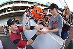 Sacramento River Cats' Joe Panik signs autographs before a game against the Reno Aces at Greater Nevada Field in Reno, Nev., on Tuesday, July 26, 2016.  <br />Photo by Cathleen Allison