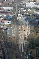 Gueterbahnhof: EUROPA, DEUTSCHLAND, HAMBURG, (EUROPE, GERMANY), 14.03.2007: Bergedorf, Gueterbahnhof, Gerhard Falk Strasse,  Weidenbaumsweg, Baustelle, Neubau, Bau, Baugrundstueck, Rueckbau, Deutsche Bahn,  Luftbild, Luftansicht, Air..c o p y r i g h t : A U F W I N D - L U F T B I L D E R . de.G e r t r u d - B a e u m e r - S t i e g 1 0 2, .2 1 0 3 5 H a m b u r g , G e r m a n y.P h o n e + 4 9 (0) 1 7 1 - 6 8 6 6 0 6 9 .E m a i l H w e i 1 @ a o l . c o m.w w w . a u f w i n d - l u f t b i l d e r . d e.K o n t o : P o s t b a n k H a m b u r g .B l z : 2 0 0 1 0 0 2 0 .K o n t o : 5 8 3 6 5 7 2 0 9.C o p y r i g h t n u r f u e r j o u r n a l i s t i s c h Z w e c k e, keine P e r s o e n l i c h ke i t s r e c h t e v o r h a n d e n, V e r o e f f e n t l i c h u n g  n u r  m i t  H o n o r a r  n a c h M F M, N a m e n s n e n n u n g  u n d B e l e g e x e m p l a r !.