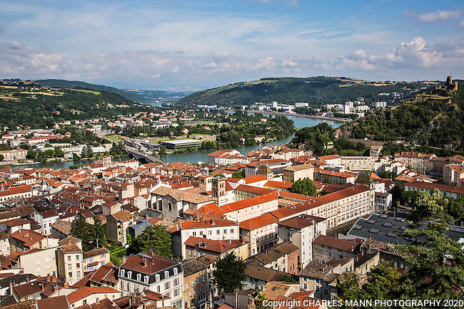 The city of Vienne, south of Leone, is a famous port on the Rhone river where the  water slows down and where large Roman ruins testify to a complex and intriguing past.