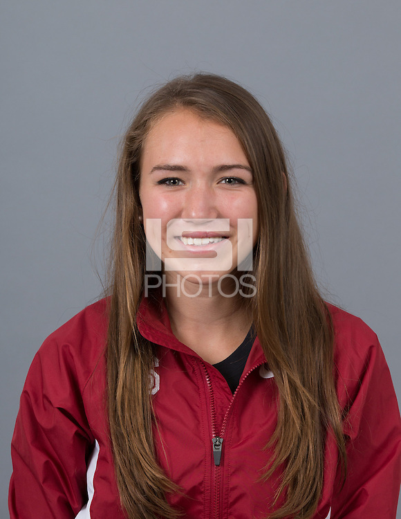 STANFORD, CA - SEPTEMBER 24, 2014--Abbie McNulty, with Stanford University Cross Country Team