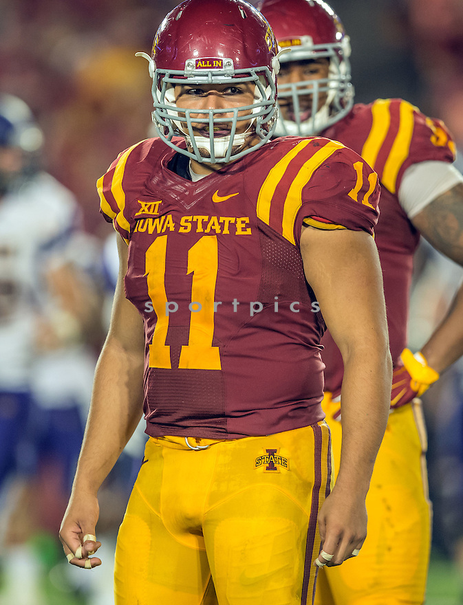 Iowa State Cyclones Gabe Luna (11) during a game against the Northern Iowa Panthers on September 5, 2015 at Jack Trice Stadium in Ames, Iowa. Iowa State beat Northern Iowa 31-7.