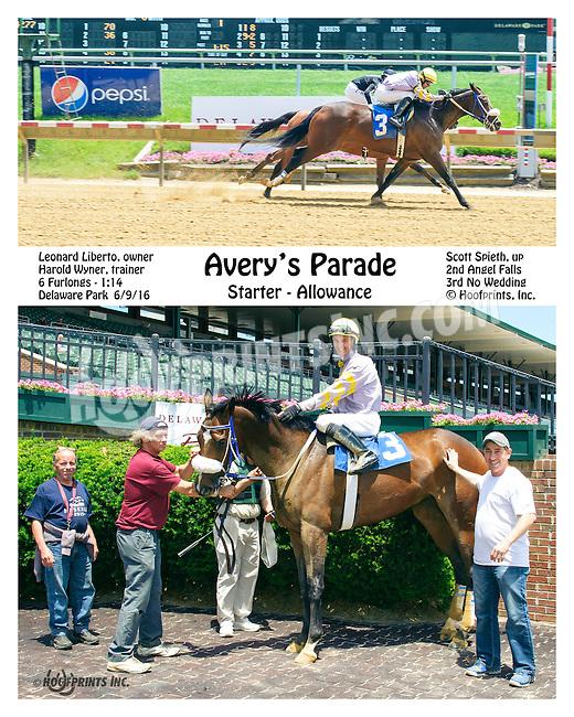 Avrey's Parade winning at Delaware Park on 6/9/16