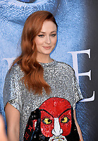 Sophie Turner at the season seven premiere for &quot;Game of Thrones&quot; at the Walt Disney Concert Hall, Los Angeles, USA 12 July  2017<br /> Picture: Paul Smith/Featureflash/SilverHub 0208 004 5359 sales@silverhubmedia.com