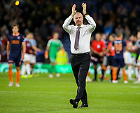 Burnley manager Sean Dyche applauds the fans after the match<br /> <br /> Photographer Alex Dodd/CameraSport<br /> <br /> UEFA Europa League - Third Qualifying Round 2nd Leg - Burnley v Istanbul Basaksehir - Thursday 16th August 2018 - Turf Moor - Burnley<br />  <br /> World Copyright © 2018 CameraSport. All rights reserved. 43 Linden Ave. Countesthorpe. Leicester. England. LE8 5PG - Tel: +44 (0) 116 277 4147 - admin@camerasport.com - www.camerasport.com