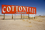 Billboard for the Cottontail Ranch bordello along U.S. Highway 95 at Lida Junction, Nevada.