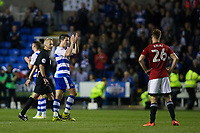 Reading's Yann Kermorgant acknowledges the crowd as he is substituted off       <br /> <br /> <br /> Photographer Craig Mercer/CameraSport<br /> <br /> The EFL Sky Bet Championship Play-Off Semi Final Second Leg - Reading v Fulham - Tuesday May 16th 2017 - Madejski Stadium - Reading <br /> <br /> World Copyright &copy; 2017 CameraSport. All rights reserved. 43 Linden Ave. Countesthorpe. Leicester. England. LE8 5PG - Tel: +44 (0) 116 277 4147 - admin@camerasport.com - www.camerasport.com