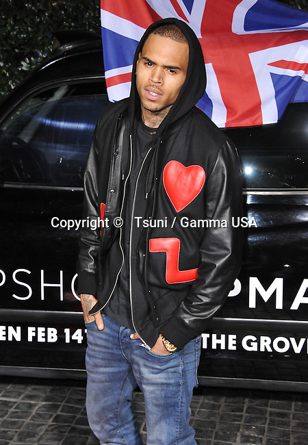 Chris Brown  at  the Topshop and Topman Opening in LA at the Cecconi s in West Hollywood.