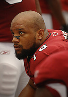 Aug 18, 2007; Glendale, AZ, USA; Arizona Cardinals defensive tackle Alan Branch (78) against the Houston Texans at University of Phoenix Stadium. Mandatory Credit: Mark J. Rebilas-US PRESSWIRE Copyright © 2007 Mark J. Rebilas