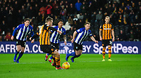 Hull City's Jarrod Bowen scores his side's second goal, from the penalty spot<br /> <br /> Photographer Chris Vaughan/CameraSport<br /> <br /> The EFL Sky Bet Championship - Hull City v Sheffield Wednesday - Saturday 12th January 2019 - KCOM Stadium - Hull<br /> <br /> World Copyright © 2019 CameraSport. All rights reserved. 43 Linden Ave. Countesthorpe. Leicester. England. LE8 5PG - Tel: +44 (0) 116 277 4147 - admin@camerasport.com - www.camerasport.com