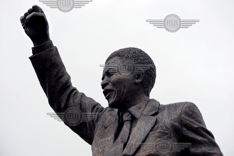 Jean Doyle's bronze statue of Nelson Mandela, unveiled outside the Groot Drakenstein Prison, where Mandela spent his final months before his release in 1990.