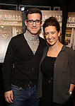 """Bill Buckhurst and Rachel Edwards attend a press reception for the cast of The Tooting Arts Club production of """"Sweeney Todd''  at AOC L'aile ou la Cuisse on February 2, 2017 in New York City."""