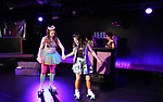 Leah Lane, Hui-Shan Yongand cast during The Dare Tactic production of 'A Roller Rink Temptation' at  WOW Cafe on May 25, 2018 in New York City.
