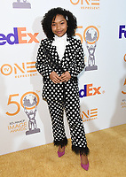 09 March 2019 - Hollywood, California - Laya DeLeon Hayes. 50th NAACP Image Awards Nominees Luncheon held at the Loews Hollywood Hotel.  <br /> CAP/ADM/BT<br /> &copy;BT/ADM/Capital Pictures