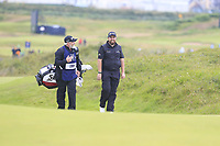 Shane Lowry (IRL) and caddy Bo on the 15th hole during Sunday's Final Round of the 148th Open Championship, Royal Portrush Golf Club, Portrush, County Antrim, Northern Ireland. 21/07/2019.<br /> Picture Eoin Clarke / Golffile.ie<br /> <br /> All photo usage must carry mandatory copyright credit (© Golffile | Eoin Clarke)