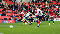 first goal scored for Preston North End by Paul Gallagher of Preston North End during Charlton Athletic vs Preston North End, Sky Bet EFL Championship Football at The Valley on 3rd November 2019