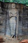 Standing Buddha figure, Gal Viharaya, UNESCO World Heritage Site, the ancient city of Polonnaruwa, Sri Lanka