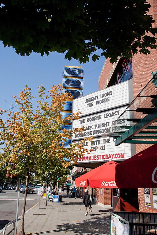 Seattle, Ballard, Majestic Bay, movie theater, Market Street, street scene,