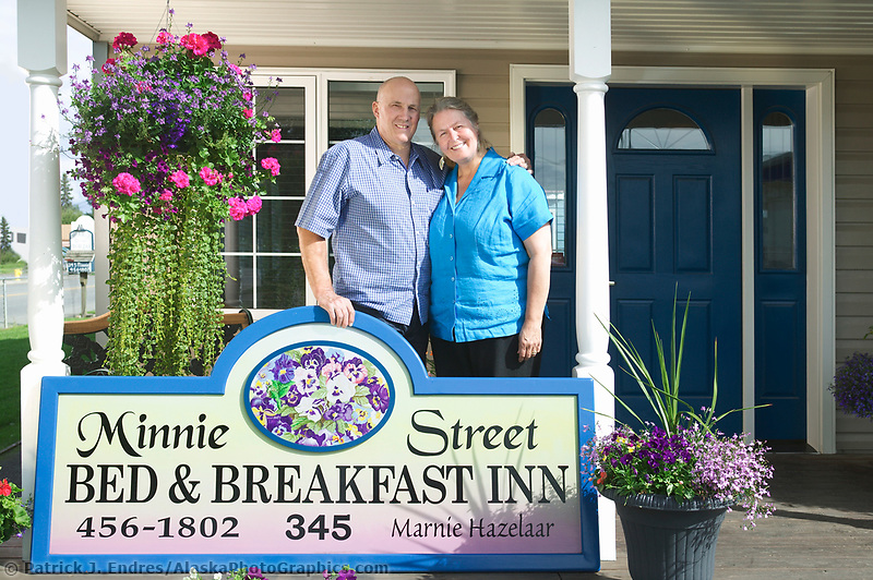 Minnie Street Bed and Breakfast owners, Minnie and Lambert.
