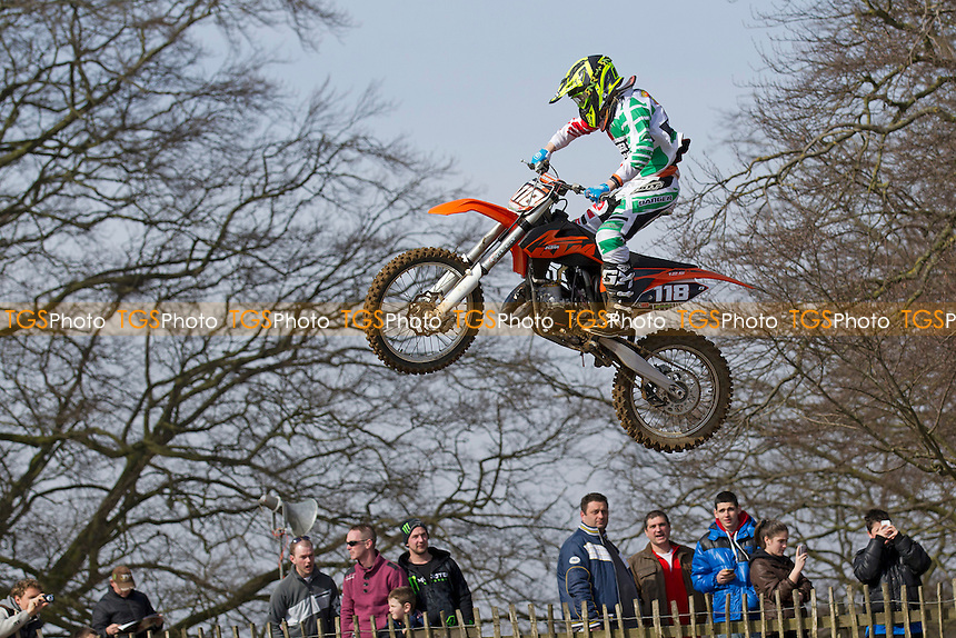 Lewis Houghton in action during the MXY2 race at Lyng - Maxxis MX British Championship, Round 3, MX1, MX2, Cadders Hill Circuit, Lyng, Norfolk - 07/04/13 - MANDATORY CREDIT: Ray Lawrence/TGSPHOTO - Self billing applies where appropriate - 0845 094 6026 - contact@tgsphoto.co.uk - NO UNPAID USE