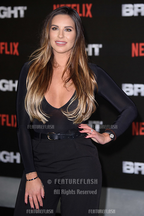 Jessica Shears at the European premiere for &quot;Bright&quot; European premiere at the BFI South Bank, London, UK. <br /> 15 December  2017<br /> Picture: Steve Vas/Featureflash/SilverHub 0208 004 5359 sales@silverhubmedia.com