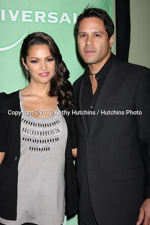 Paula Garces & Husband  Antonio Hernandez.arriving at the 2010 Winter NBC TCA Party .Langford Hotel.Pasadena, CA.January 10, 2010.©2010 Kathy Hutchins / Hutchins Photo....