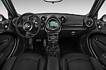 Stock photo of straight dashboard view of a 2015 MINI Countryman John Cooper Works 5 Door Hatchback Dashboard