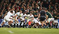 Tom Curry of England passes to Mako Vunipola of England during the 2018 Castle Lager Incoming Series 2nd Test match between South Africa and England at the Toyota Stadium.Bloemfontein,South Africa. 16,06,2018 Photo by Steve Haag / stevehaagsports.com
