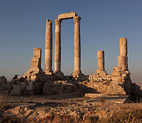 Temple of Hercules, built AD 162-66, dedicated to co-emperors Marcus Aurelius and Lucius Verus, Amman Citadel, Jabal al-Qal'a, Amman, Jordan. Picture by Manuel Cohen