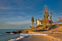 64795-00820 Point Betsie Lighthouse on Lake Michigan, Benzie County, Frankfort, MI