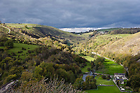 View of Upperdale from Monsal Head, Derbyshire.