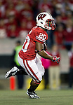Wisconsin Badgers running back/kick returner James White (20) returns a kick during an NCAA Big Ten Conference college football game against the Nebraska Cornhuskers on October 1, 2011 in Madison, Wisconsin. The Badgers won 48-17. (Photo by David Stluka)