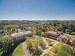 Muskingum University Aerial Photography of Roberta A Smith Library, Caldwell Hall, and Montgomery Hall  | Bialosky & Partners Architects