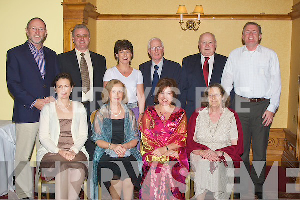 SWIMMERS: Members of Tralee Bay Swimmers Club whpo attended the annual dinner in the Meadowlands Hotel, Tralee on saturday night. Front l-r: Sheila Ryle, Marian O'Reilly, Joan Holland and Rosemary Sullivan. Back l-r: Billy Ryle, Michael Holland, Mary Jo McGuire, Andrew McCann, Jimmy Sullivan and Donal Fitzgibbon..
