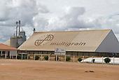 Goias State, Brazil. Filial Bahia Multigrain grain drying plant, store and silo.