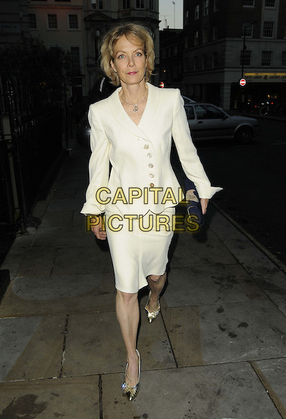 Jenny Seagrove.The MOON-SIGNS Jewellery showcase in aid of the Born Free Foundation charity, The 2&8 Club, 28 Berkeley Square, London, England..October 1st, 2012.full length white blazer skirt black clutch bag.CAP/CAN.©Can Nguyen/Capital Pictures.