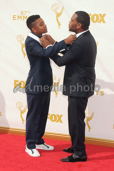 20 September 2015 - Los Angeles, California - Nathan Anderson, Anthony Anderson. 67th Annual Primetime Emmy Awards - Arrivals held at Microsoft Theater. Photo Credit: Byron Purvis/AdMedia