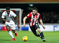 Neal Maupay of Brentford during the Sky Bet Championship match between Brentford and Leeds United at Griffin Park, London, England on 4 November 2017. Photo by Carlton Myrie.