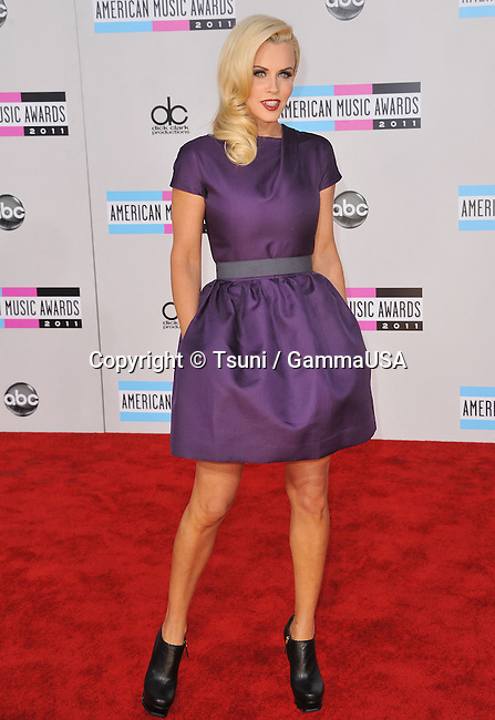 Jenny McCarthey   at the AMA Awards 2011 at the Nokia Theatre in Los Angeles.