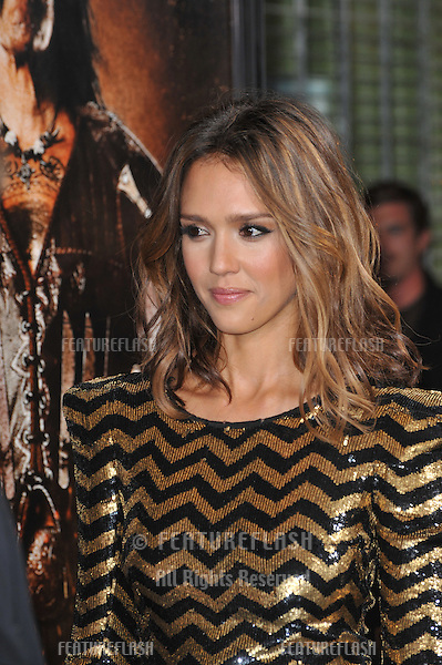 "Jessica Alba at the Los Angeles premiere of her new movie ""Machete"" at The Orpheum Theatre..August 25, 2010  Los Angeles, CA.Picture: Paul Smith / Featureflash"