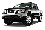 Stock pictures of low aggressive front three quarter view of 2016 Nissan Frontier SV 4 Door Pick-up Low Aggressive