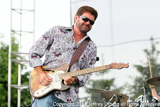 "June 4, 2011 Augusta, N.J.: Singer / Musician Tab Benoit performs ""Michael Arnone's Crawfish Festival"" at the Sussex County Fairgrounds on June 4, 2011 in Augusta, N.J."