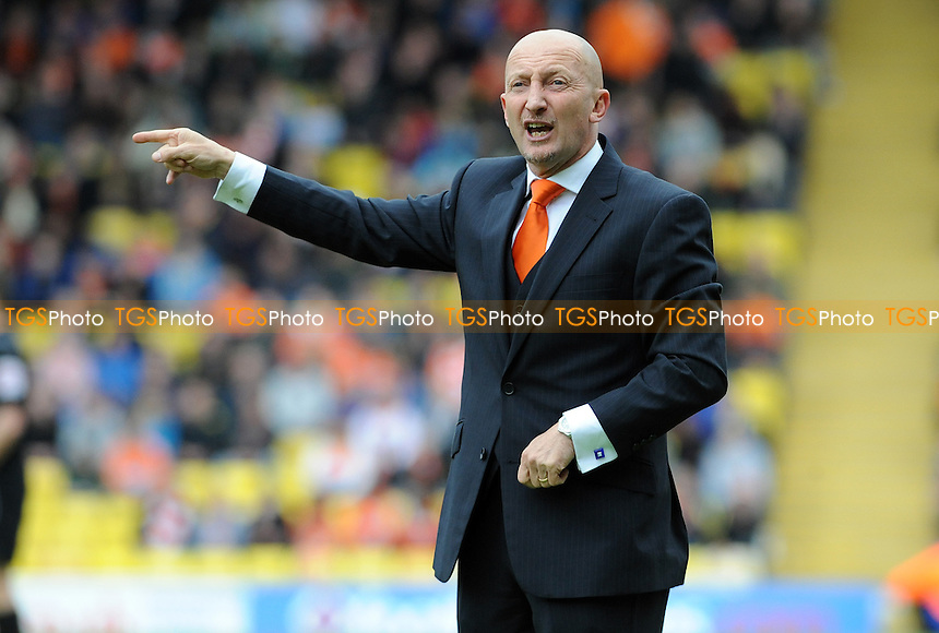 Blackpool manager Ian Holloway - Watford vs Blackpool - nPower Championship Football at Vicarage Road, Watford - 06/04/12 - MANDATORY CREDIT: Anne-Marie Sanderson/TGSPHOTO - Self billing applies where appropriate - 0845 094 6026 - contact@tgsphoto.co.uk - NO UNPAID USE.