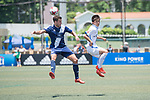 Kashima Antlers (in white) vs HKFC Captain's Select (in navy blue), during their Main Tournament match, part of the HKFC Citi Soccer Sevens 2017 on 27 May 2017 at the Hong Kong Football Club, Hong Kong, China. Photo by Marcio Rodrigo Machado / Power Sport Images
