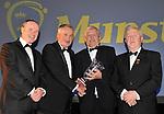 At the Bord G&aacute;is Energy Munster GAA Sports Star of the Year Awards in The Malton Hotel, Killarney on Saturday night were front from left, Dave Kirwan, Managing Director, Bord Gais Enerergy, Mikey Sheehy, Kerry, Football Hall of Fame award winner , Jerry O'Sullivan, Munster GAA Vice Chairman and Robert Frost, Chairman, Munster GAA.<br /> Picture by Don MacMonagle<br /> <br /> PR photo from Munster Council