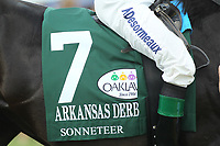 HOT SPRINGS, AR - APRIL 15: Sonneteer #7, silks before the Arkansas Derby at Oaklawn Park on April 15, 2017 in Hot Springs, Arkansas. (Photo by Justin Manning/Eclipse Sportswire/Getty Images)