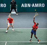 Rotterdam, The Netherlands, 15 Februari 2020, ABNAMRO World Tennis Tournament, Ahoy,<br /> Rohan Bopanna (IND) and Denis Shapovalov (CAN).<br /> Photo: www.tennisimages.com