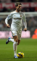 Sunday, 28 November 2012<br /> Pictured: Angel Rangel.<br /> Re: Barclays Premier League, Swansea City FC v West Bromwich Albion at the Liberty Stadium, south Wales.